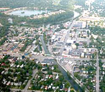 Aerial photo of Broad Ripple
